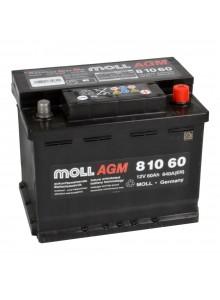 Baterie auto MOLL START-STOP PLUS AGM 60Ah 81060