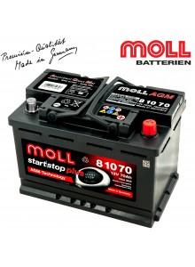 Baterie auto MOLL START-STOP PLUS AGM 81070 70Ah