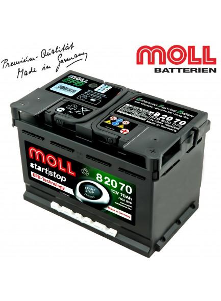 Baterie auto MOLL START-STOP 82070 EFB 70Ah